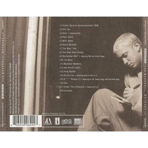 a review of eminems album the marshal mathers lp song And so is marshall mathers, eminem's alter-ego yin to shady's sadistic, homicidal yang (a return to the autobiographical themes found on the first go-round, the marshall mathers lp, released in 2000.